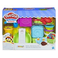 Play-Doh Kitchen Creations Grocery Goodies Food Set with 7 Cans of Dough & 20+ Tools
