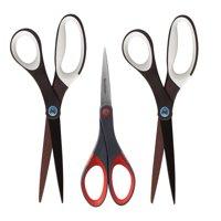 Scotch Scissor Value Pack, Non-Stick Ultra-Edge Precision Blades, 3 Scissors per Pack