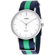 0e4cd1689 Timex Weekender Fairfield White Dial Nylon Strap Unisex Watch TW2P90800