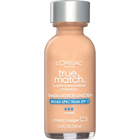 L'Oreal Paris True Match Super-Blendable Foundation Makeup, Classic Beige, 1 fl. oz. - Old Lady Makeup