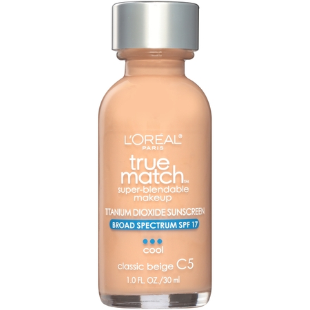 L'Oreal Paris True Match Super-Blendable Foundation Makeup, Classic Beige, 1 fl. oz.](Black And White Face Halloween Makeup)