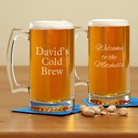 Personalized Create Your Own Oversized Beer Mug, 25 oz - Available in Block or Script Font