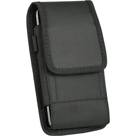 VERTICAL HEAVY DUTY NYLON CASE HOLSTER BELT CLIP POUCH FOR IPHONE 6 PLUS 5.5