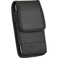 Premium Belt Clip Holster Pouch Leather Case Holder for Cell Phones[Samsung Galaxy S6 / S6 Edge / S7 / S8 ,Vertical Nylon]