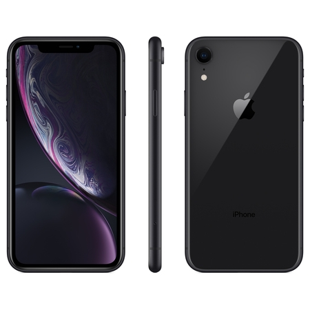 Straight Talk Apple iPhone XR w/64GB Prepaid Smartphone, Black ()