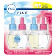 Febreze Plug Air Freshener Scented Oil Refill, Downy April Fresh, 2 Count