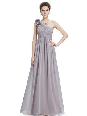 Product Image Ever-Pretty Women s Elegant Long Maxi One-Shoulder Summer  Chiffon Beach Wedding Guest Bridesmaid 860673734