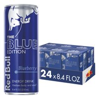 Red Bull Energy Drink Blueberry 24 Pack of 8.4 Fl Oz, Blue Edition (6 Packs of 4)