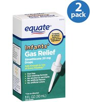 (2 Pack) Equate Infants Gas Relief Simethicone Drops, 100 Ct, 1 Oz