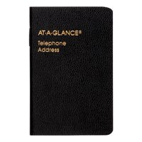 AT-A-GLANCE Pocket Telephone/Address Book, Black