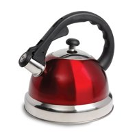 Claredale 1.7 Qt Whistling Tea Kettle - Red - Nylon Handle - SS