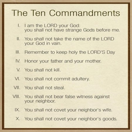Tactueux image in catholic ten commandments printable