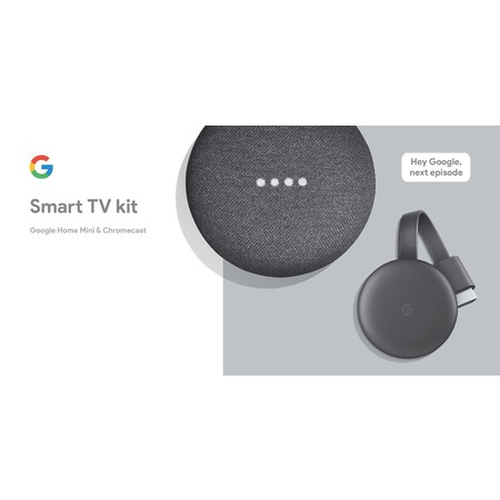 Google Smart TV Kit: Google Home Mini and Chromecast, Walmart