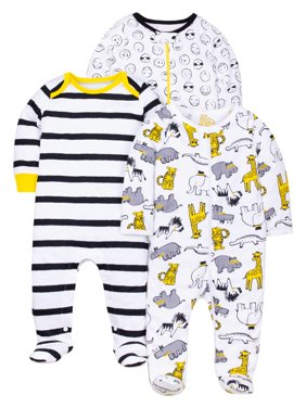 100% Organic Cotton Sleep 'N Play Pajamas, 3-pack (Baby Boys)