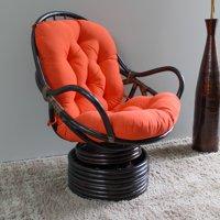 International Caravan Swivel Rocker Chair with Solid Cushion