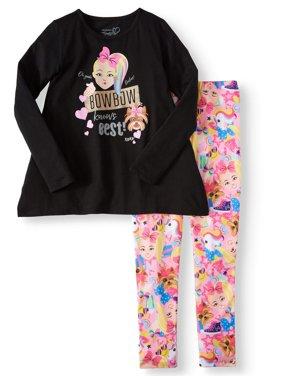 JoJo Siwa Sharkbite Graphic Tee and Legging, 2-Piece Outfit Set (Little Girls & Big Girls)