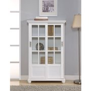 Ameriwood Home Aaron Lane Bookcase With Sliding Gl Doors Multiple Colors