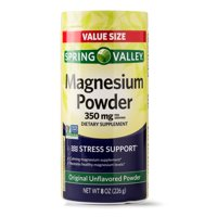Spring Valley Magnesium Powder, Original Unflavored, 350mg, 8 Oz