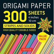 1716fc85456 Origami Paper 300 Sheets Stripes and Solids 4