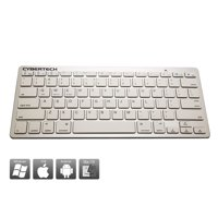CyberTech Bluetooth Ultra-Thin Keyboard for iPad Air/ Air 2,iPad Pro,iPad mini 1/ 2/ 3/ 4,iPad 2/ 3/ 4, Galaxy Tablets,Windows Tablets,and Other Mobile Devices,For IOS,Andriod,Windows System(WHITE)