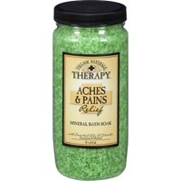 Village Naturals Therapy, Aches and Pains Muscle Relief Mineral Bath Soak, 20 Oz