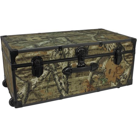 Seward Trunk Mossy Oak 30-Inch Footlocker Trunk with Wheels, Mossy Oak Camo (Finished Trunk)