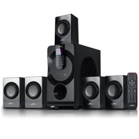 beFree Sound BFS-460 5.1 Channel Surround Sound Bluetooth Speaker System in Black