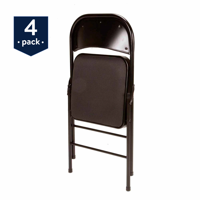 Mainstays Padded (4-Pack) Fabric Folding Chair in Black