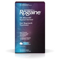 Women's Rogaine 5% Minoxidil Foam for Hair Regrowth, 4-Month Supply (Single Pack)