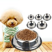 Stainless Steel Pet Bowls with Non Slip Rubber Bottom for Dogs and Cats - Feeder Dish for Food and Water
