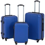 cc824240d0d Suitcase 3 Piece Luggage Sets Travel Carry On Expandable Lightweight  Durable Spinner Eco-friendly Blue