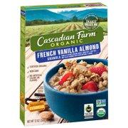 (2 Pack) Cascadian Farm Organic Granola, French Vanilla Almond Cereal, 13 oz