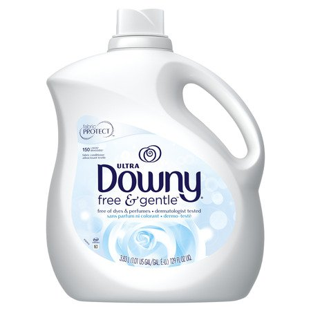 Downy Ultra Liquid Fabric Conditioner (Fabric Softener), Free & Gentle, 150 Loads 129 fl oz Downy Fabric Softener Ball