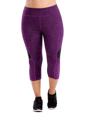 Just My Size Women's Plus Active Colorblocked Performance Capri Leggings