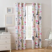 Mainstays Room Darkening Paris Single Girls Bedroom Curtain Panel