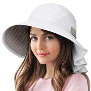 d047d8dd3f312 Sun Protection Hats for Women Hiking Garden Safari w  Flap Neck Cover Wide  Brim