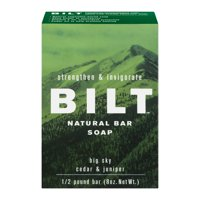 (3 pack) Bilt Strengthen & Invigorate Natural Bar Soap Big Sky Cedar & Juniper, 8.0 OZ