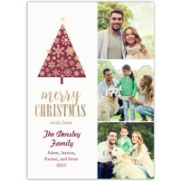 Snowflake Tree - 5x7 Personalized Christmas Card