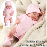 My.way 11'' Realistic Silicone Vinyl Sleeping Reborn Babies Doll That Look Real Lifelike Realike Alive Newborn Girl Dolls Handmade Weighted Alive Doll for Toddler Kid Gifts