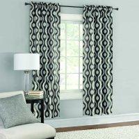 Product Image Mainstays Thermal Wave Print Room Darkening Window Curtain Panel Pair