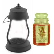 Hurricane Black Candle Warmer Gift Set - Warmer and Courtneys 26 oz Jar Candle - CRANBERRY WINE