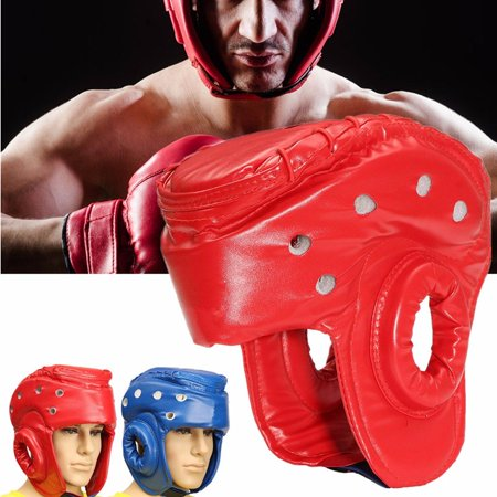 Head Guard - S/M/L Youth/Adults Unisex Boxing PU Leather Head Guard Protector Helmet MMA Muay Thai Sanda Taekwondo Protector Headgear Boxing Sparring MMA Martial Arts