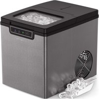 Vremi Countertop Ice Maker - Ice Cubes Ready in 9 Min - 26lb. Daily Capacity, Stainless Steel
