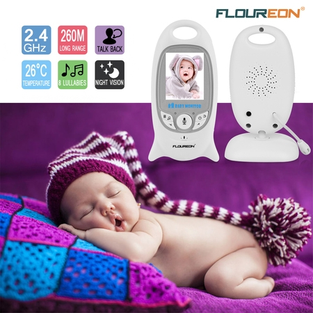 Motor Digital Camera (FLOUREON Video Baby Monitor Wireless with Digital Camera Night Vision 2 Way Audio Temperature Monitoring Lullabies Long Range and High Capacity Battery for Security 2.0inch LCD Screen)