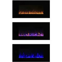 Northwest 42 inch Electric Wall Mounted Fireplace with Fire and Ice Flames