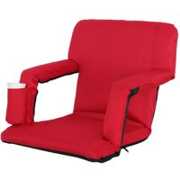 Zeny Red Wide Stadium Seats Chairs for Bleachers or Benches - 5 Reclining Positions