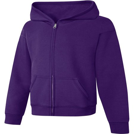 - Girls' Fleece Zip Hood Jacket