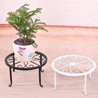 Heepo Plant Stand Floor Flower Pot Rack Round Iron Home Garden Indoor Balcony Decor
