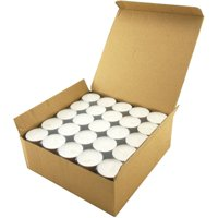 White Unscented Long Burning Tealight Candles, 8 Hours, Pack of 100