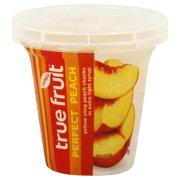 YELLOW CLING PEACH CHUNKS IN EXTRA LIGHT SYRUP, FRUIT NATURAL 7oz CUP
